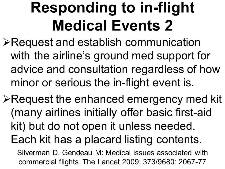 Responding to in-flight Medical Events 2