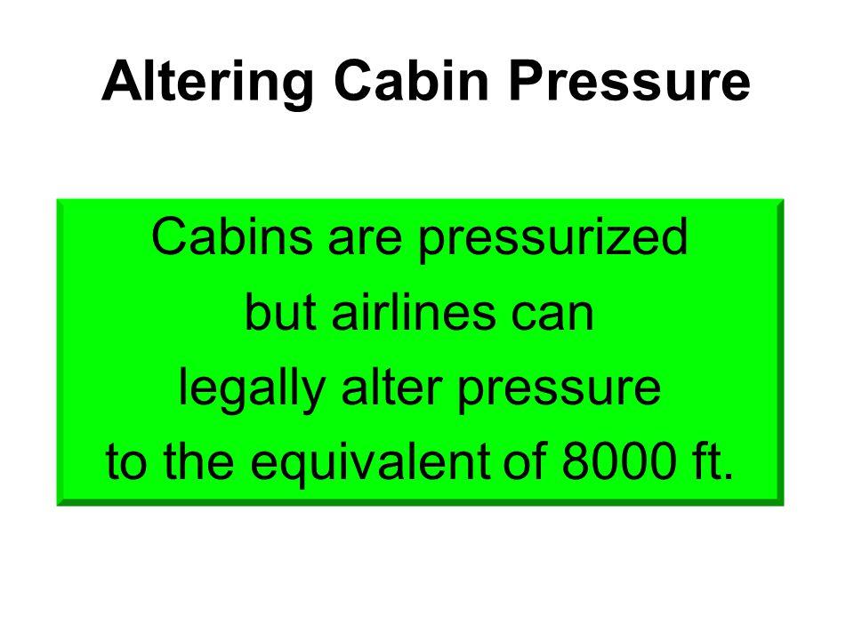Altering Cabin Pressure