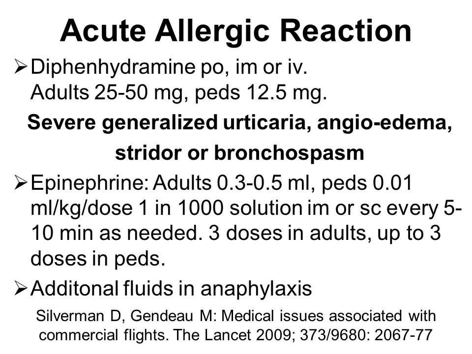 Acute Allergic Reaction