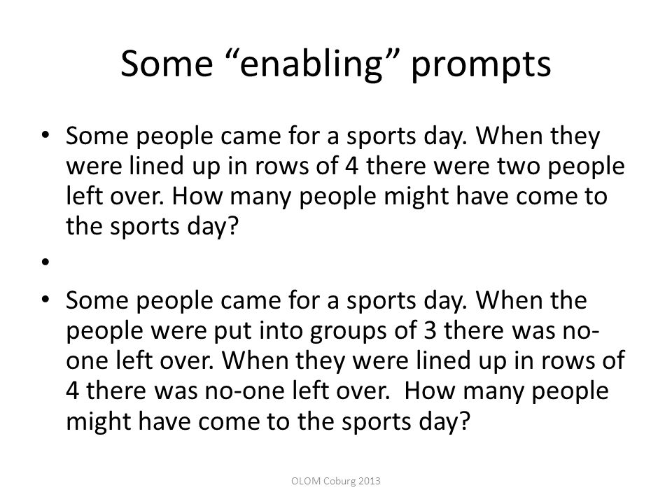Some enabling prompts