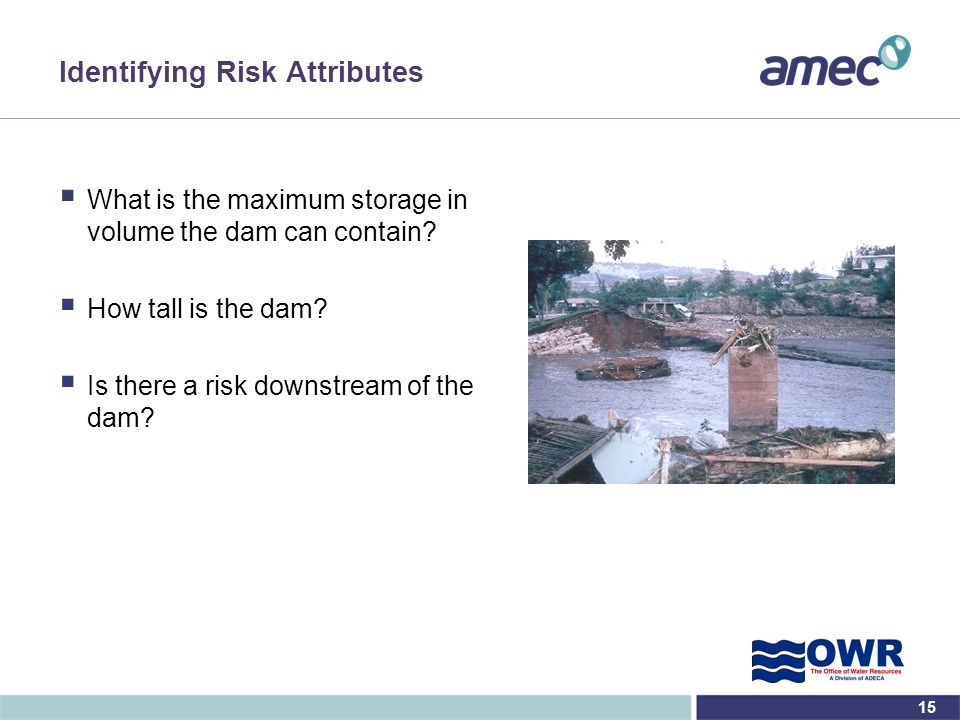 Identifying Risk Attributes