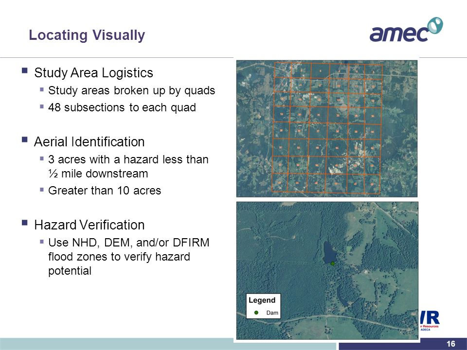 Locating Visually Study Area Logistics Aerial Identification
