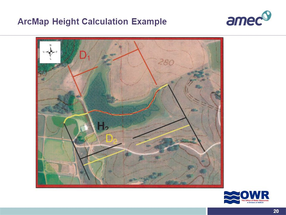 ArcMap Height Calculation Example