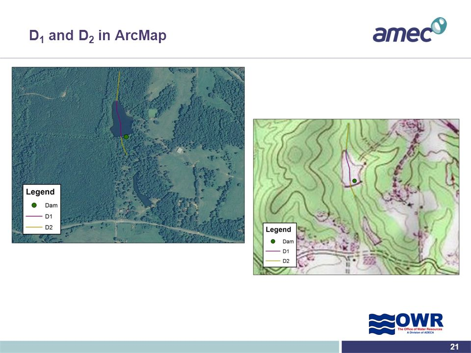 D1 and D2 in ArcMap