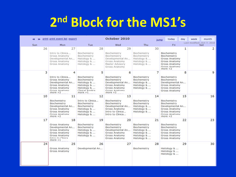 2nd Block for the MS1's
