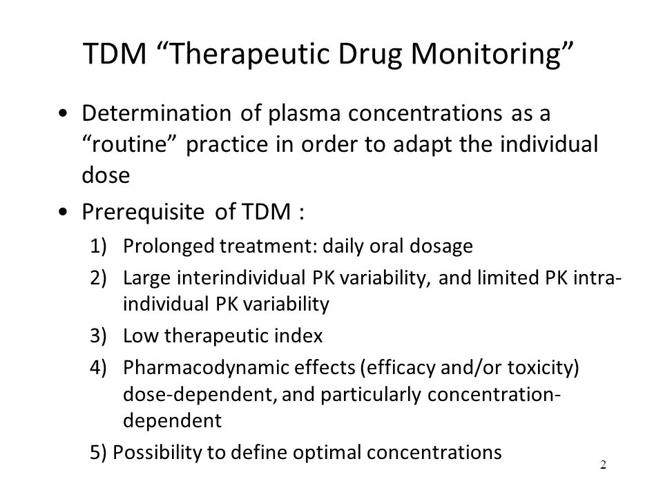 TDM Therapeutic Drug Monitoring