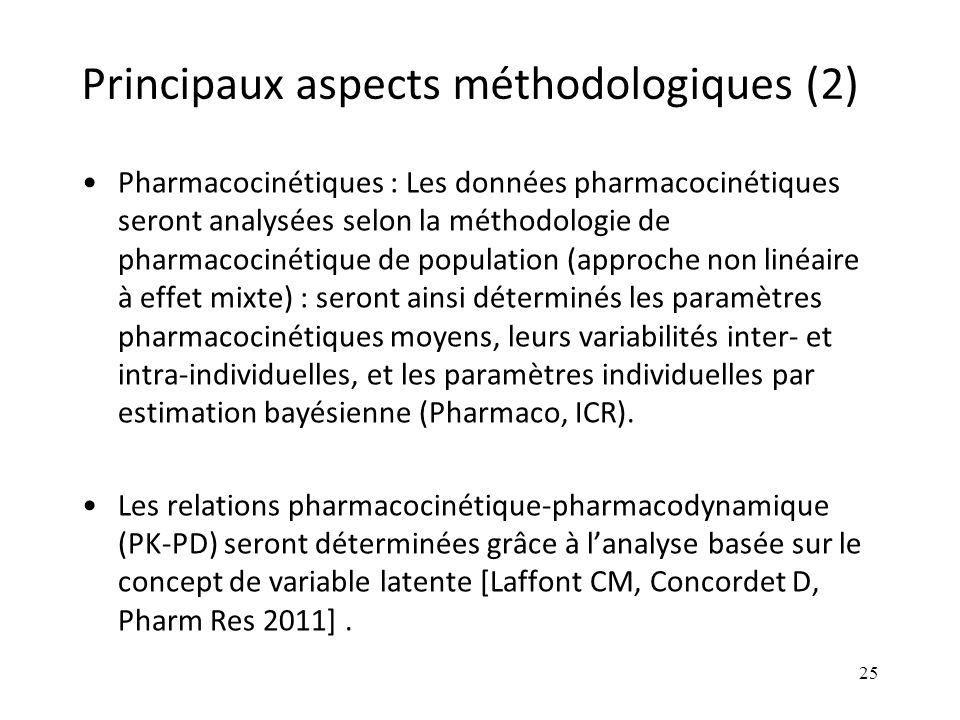 Principaux aspects méthodologiques (2)