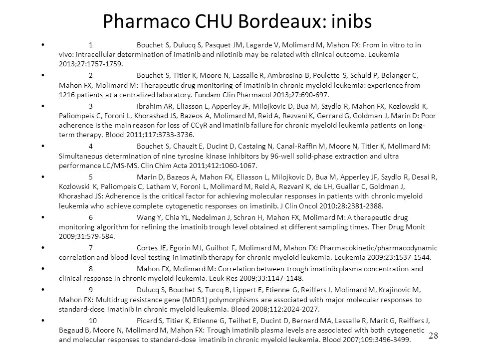 Pharmaco CHU Bordeaux: inibs