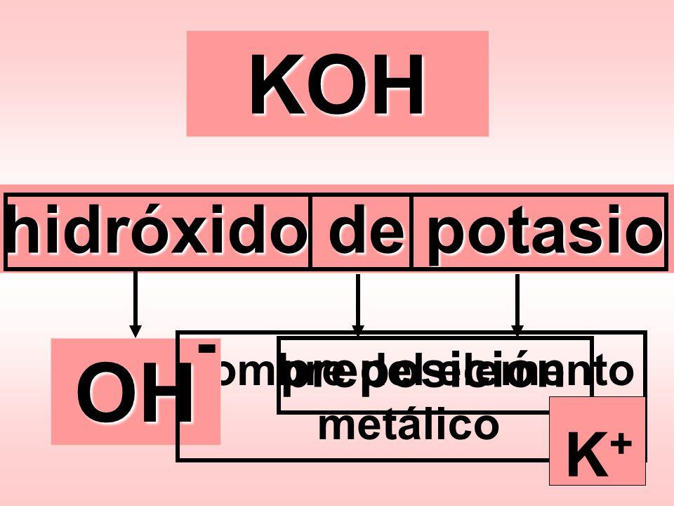 nombre del elemento metálico