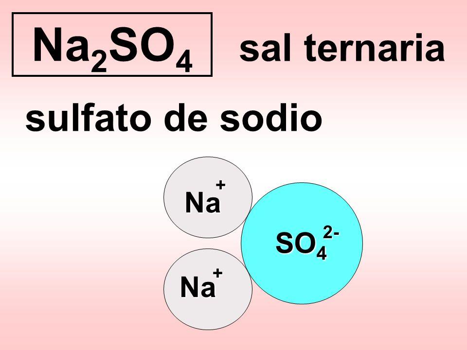 Na2SO4 sulfato de sodio sal ternaria Na SO4 Na + 2- +