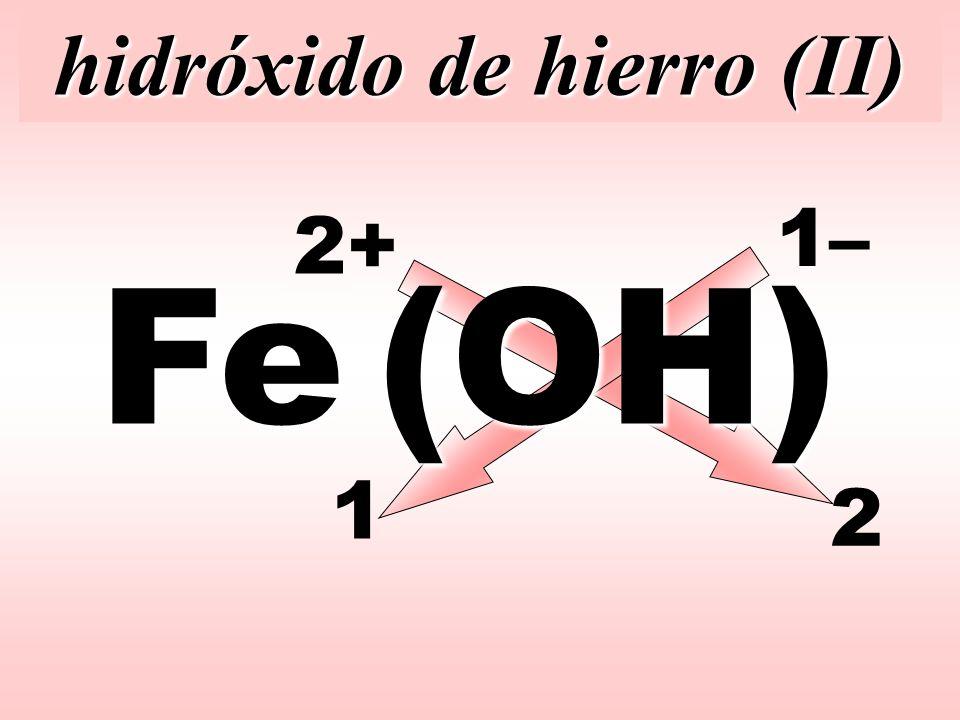 hidróxido de hierro (II)