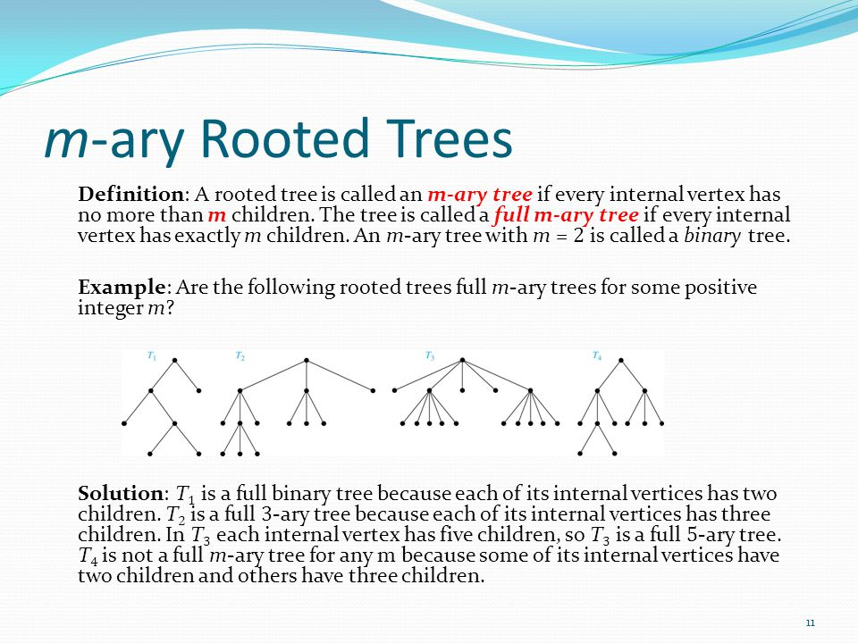 m-ary Rooted Trees