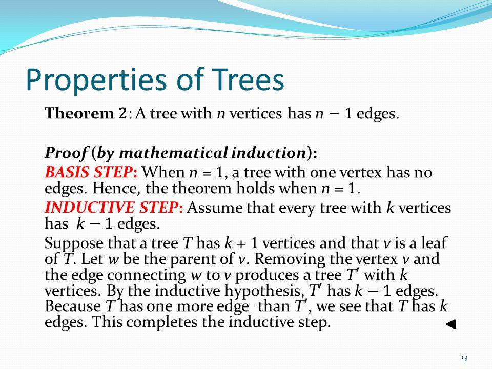 Properties of Trees