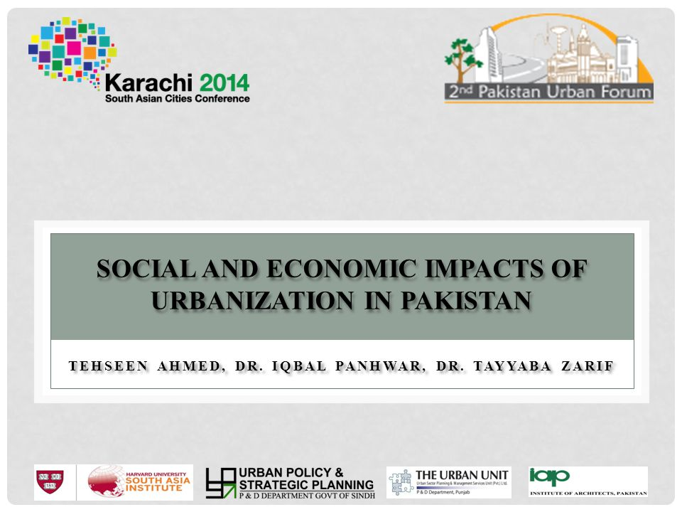 Social and Economic Impacts of Urbanization in Pakistan