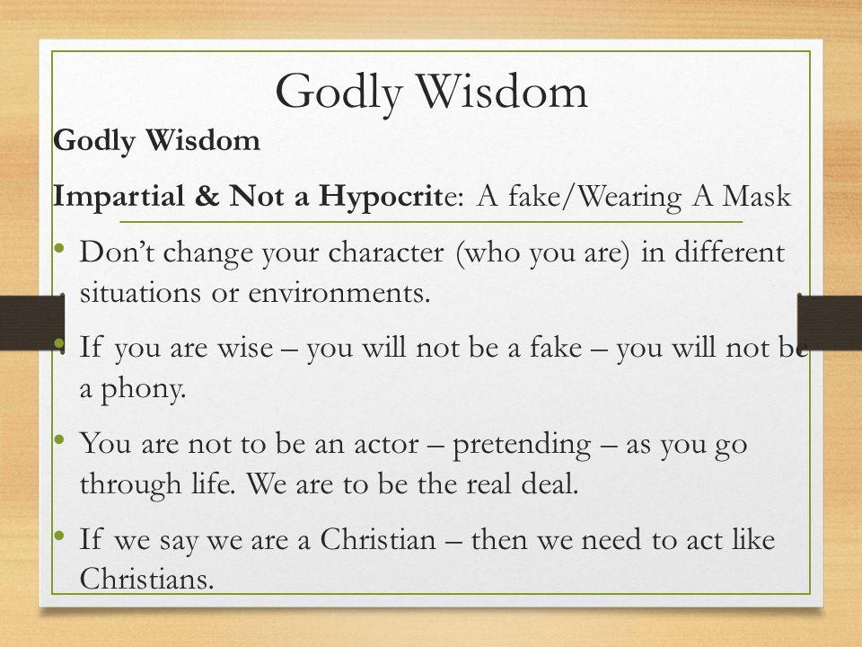 Godly Wisdom Godly Wisdom