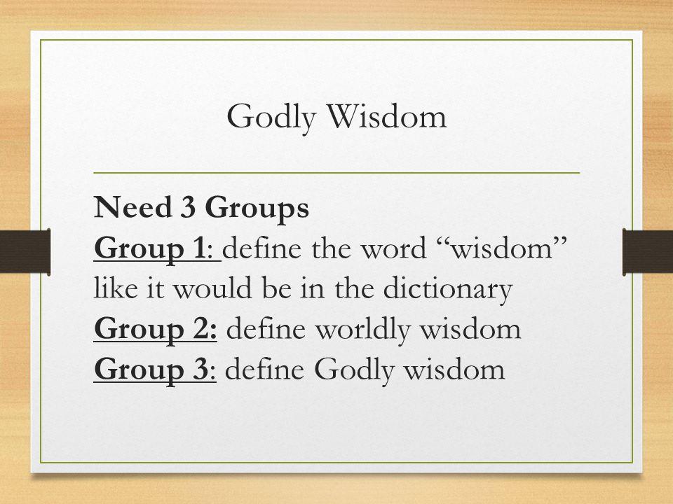 Godly Wisdom