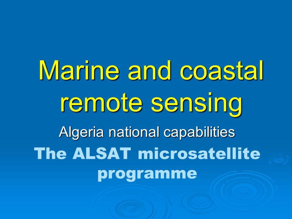Marine and coastal remote sensing