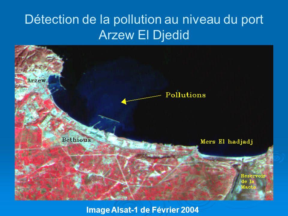 Détection de la pollution au niveau du port Arzew El Djedid