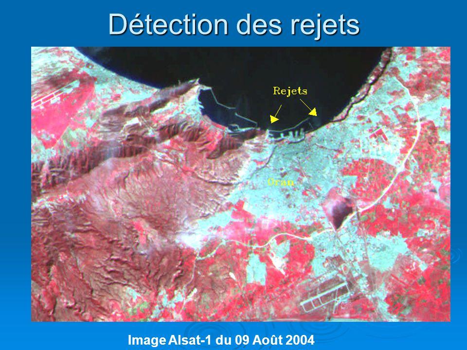 Détection des rejets Image Alsat-1 du 09 Août 2004