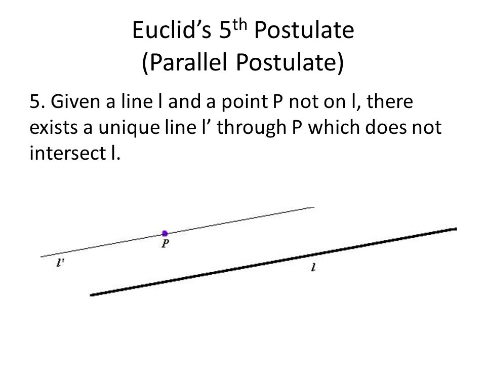 Euclid's 5th Postulate (Parallel Postulate)