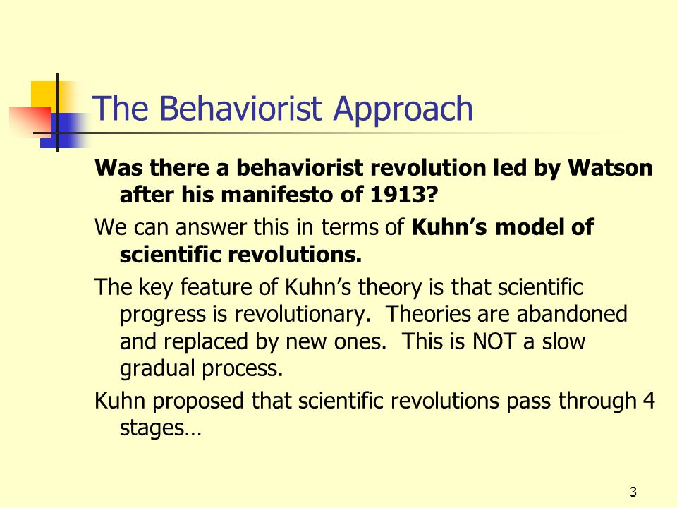 The Behaviorist Approach