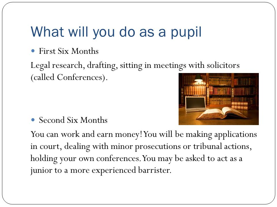 What will you do as a pupil