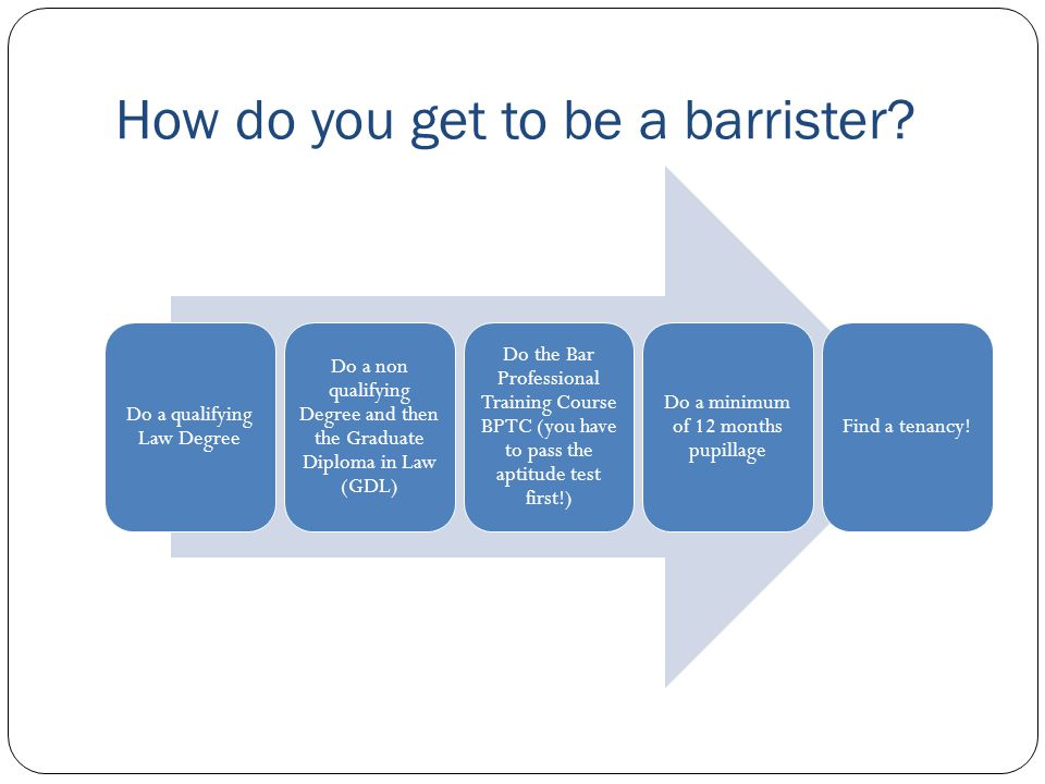How do you get to be a barrister