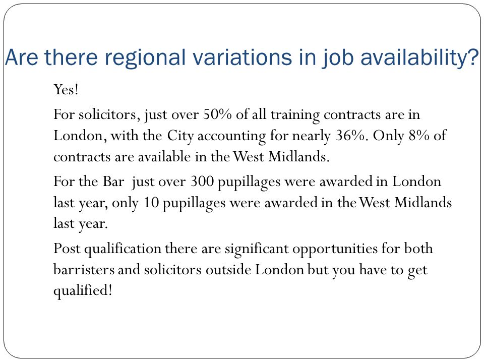 Are there regional variations in job availability