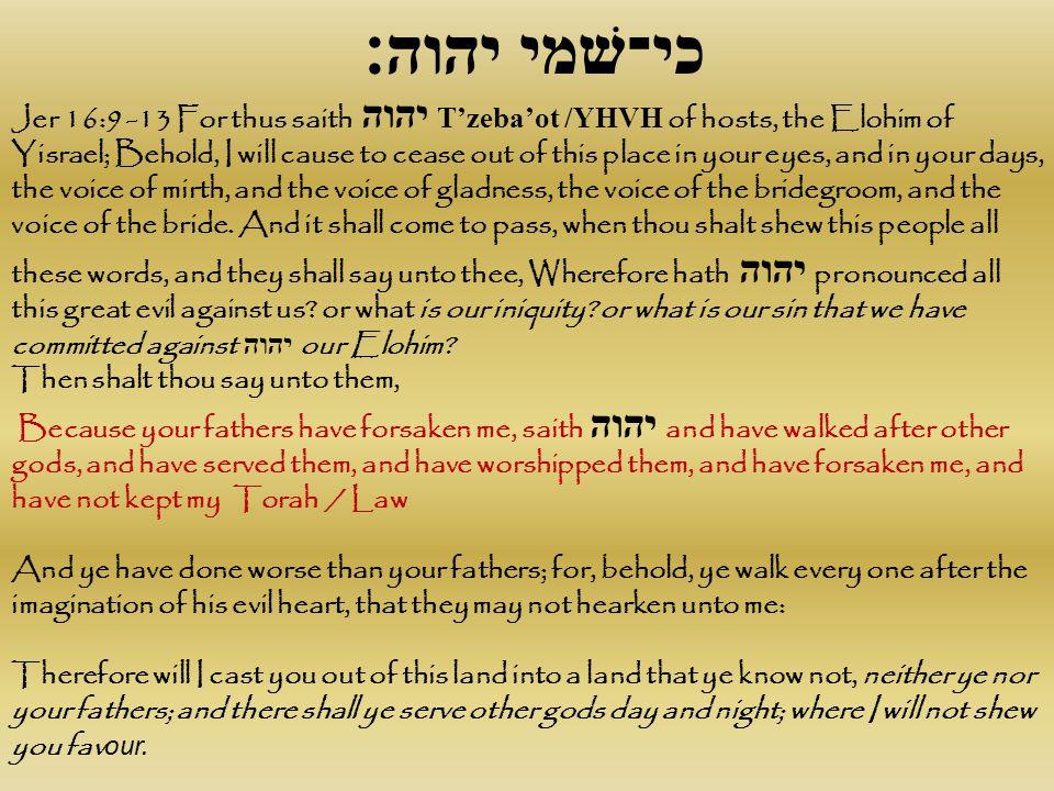 כי־שׁמי יהוה׃