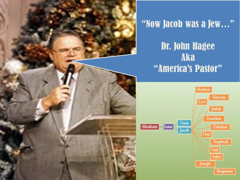 Now Jacob was a Jew… Dr. John Hagee Aka America's Pastor