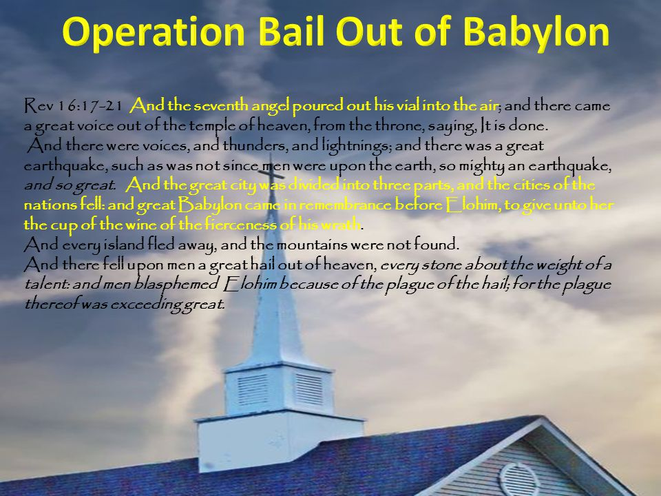 Operation Bail Out of Babylon
