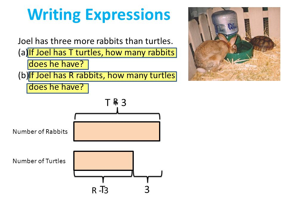 Writing Expressions T + 3 T 3
