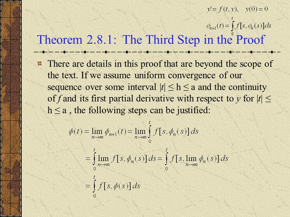 Theorem 2.8.1: The Third Step in the Proof