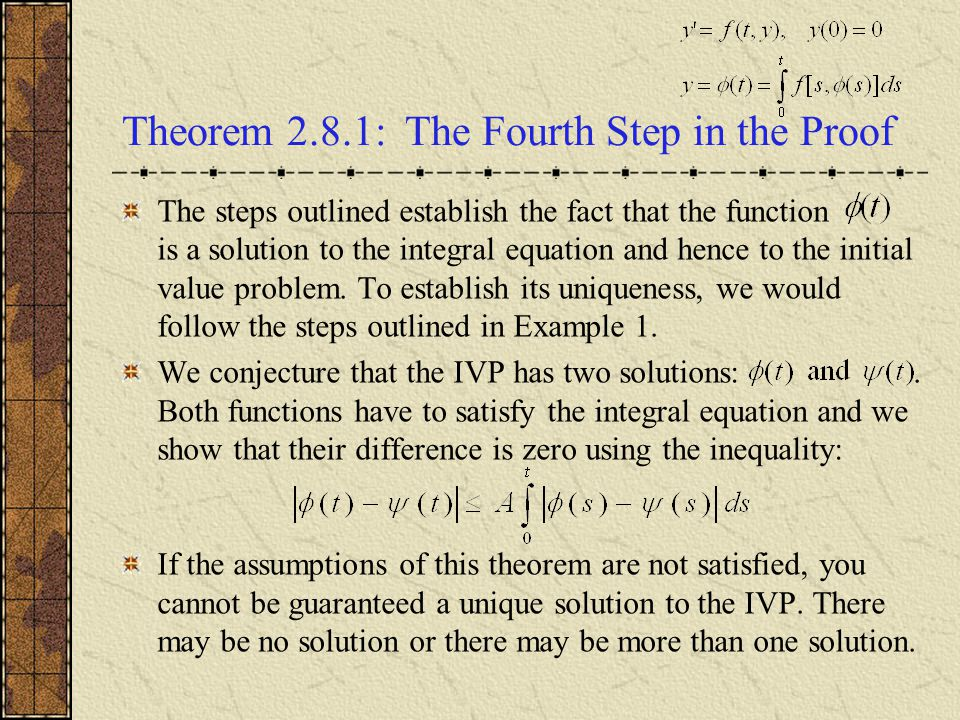 Theorem 2.8.1: The Fourth Step in the Proof
