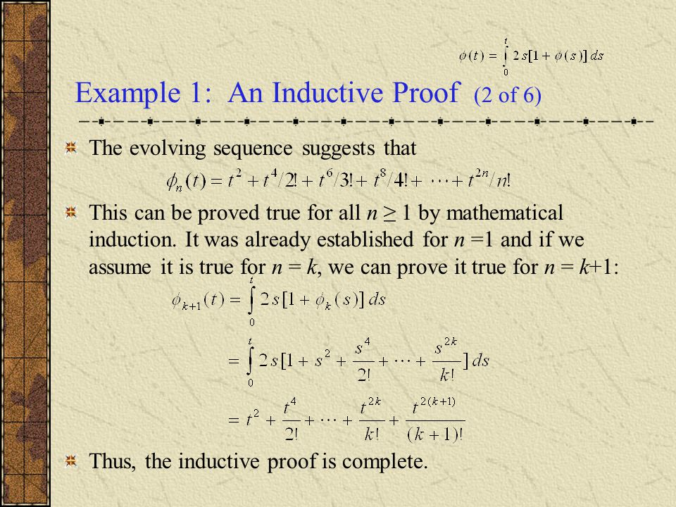 Example 1: An Inductive Proof (2 of 6)