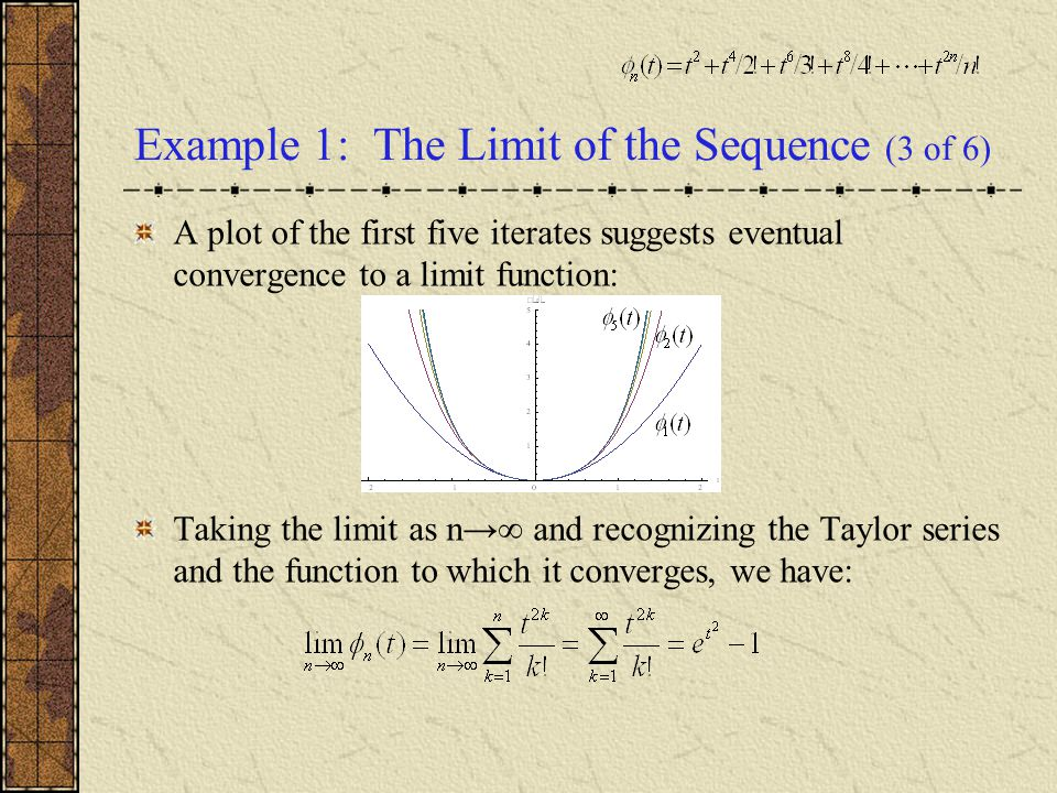 Example 1: The Limit of the Sequence (3 of 6)