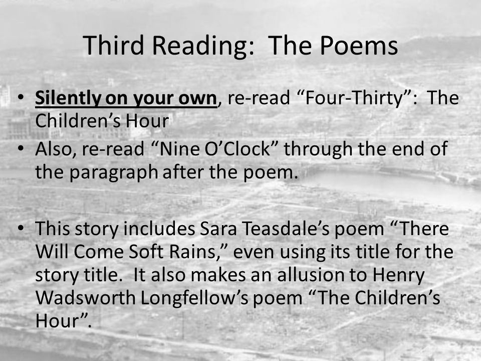 Third Reading: The Poems