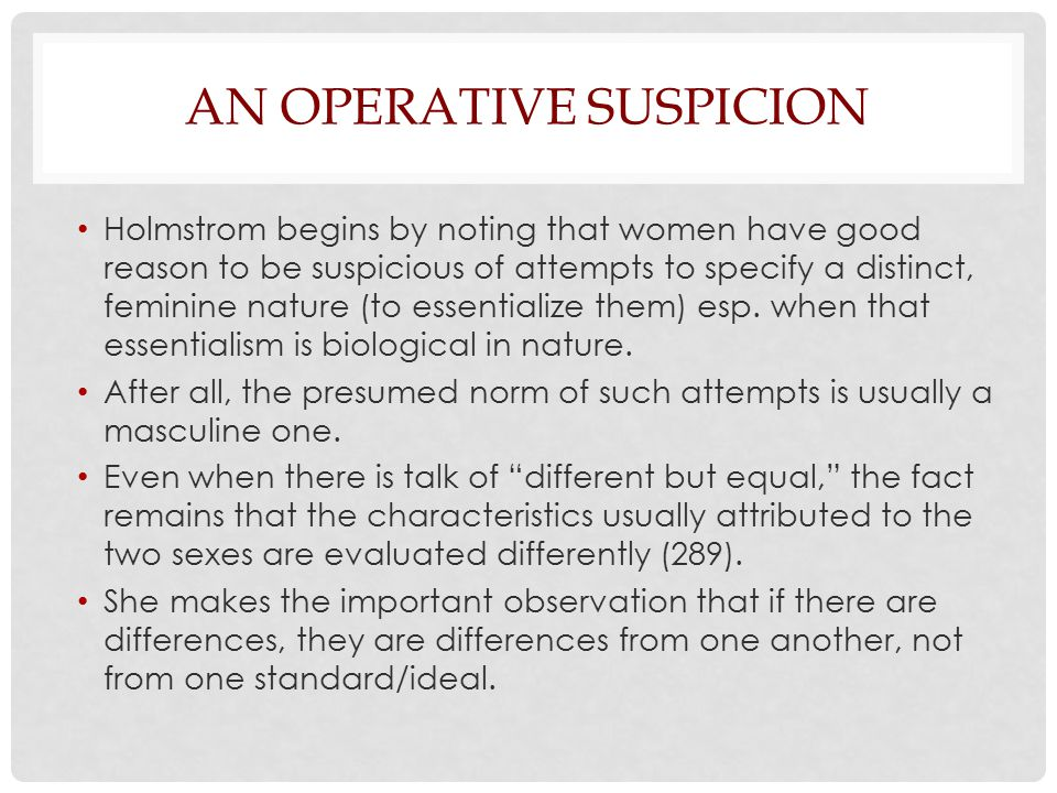 An Operative Suspicion