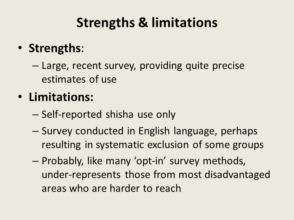 Strengths & limitations