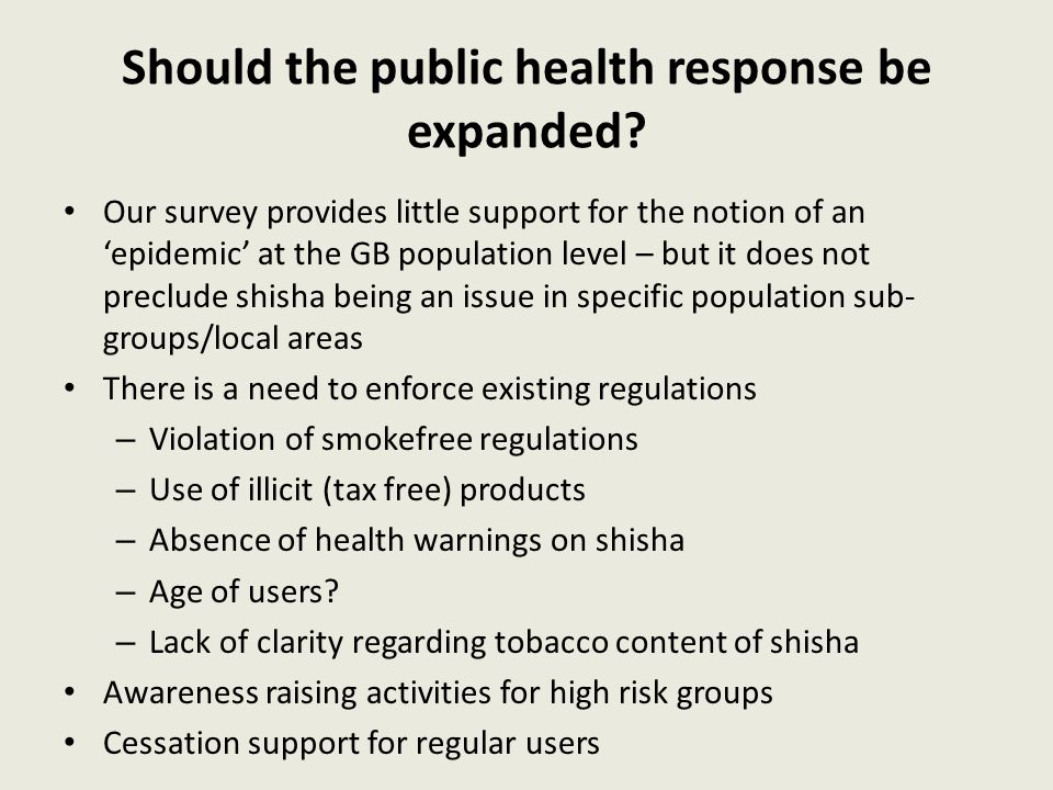 Should the public health response be expanded