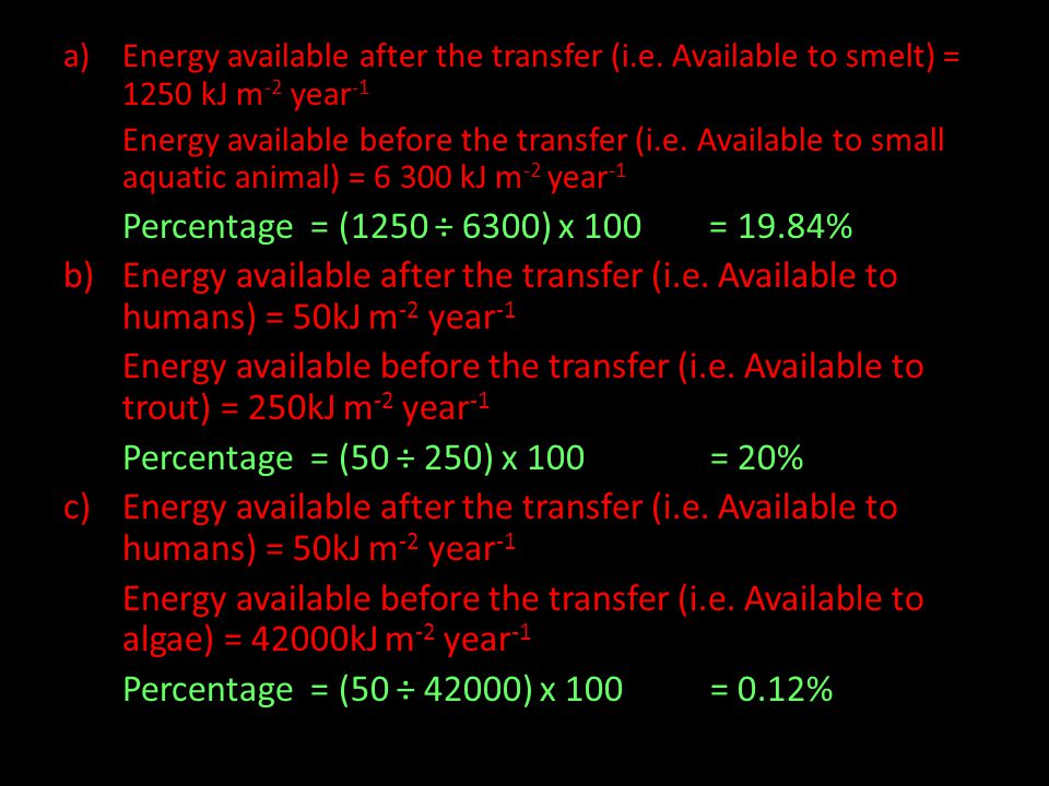 Energy available after the transfer (i. e