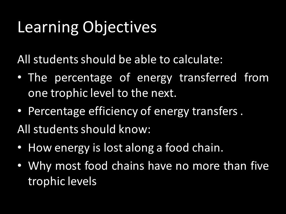 Learning Objectives All students should be able to calculate: