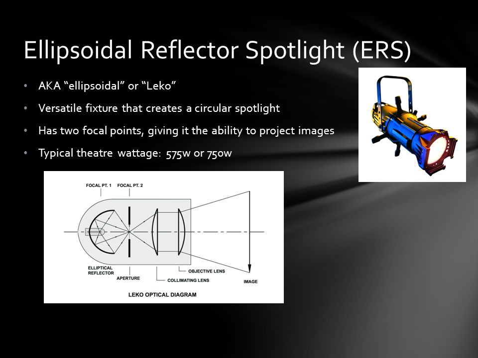 Ellipsoidal Reflector Spotlight (ERS)