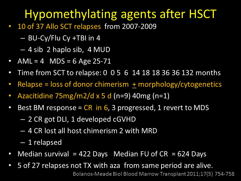 Hypomethylating agents after HSCT