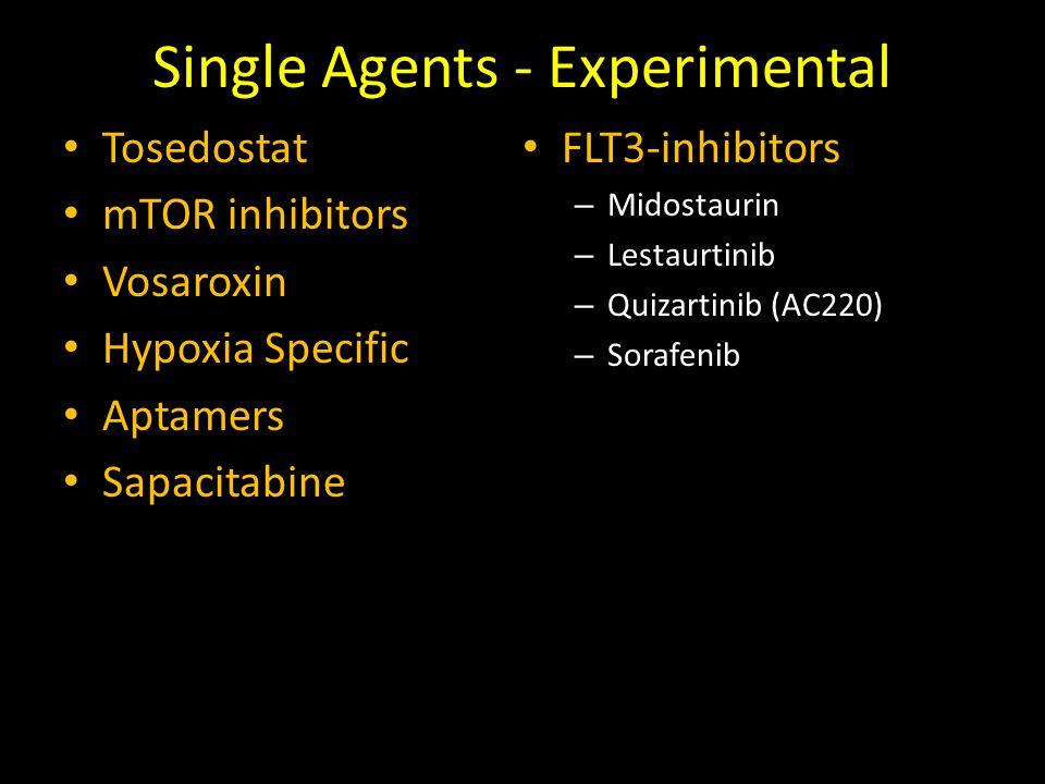 Single Agents - Experimental