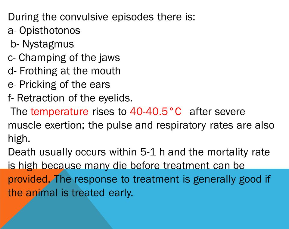 During the convulsive episodes there is: