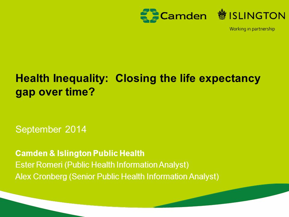 Health Inequality: Closing the life expectancy gap over time