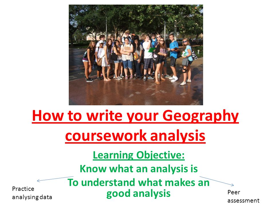 Analysis geography coursework