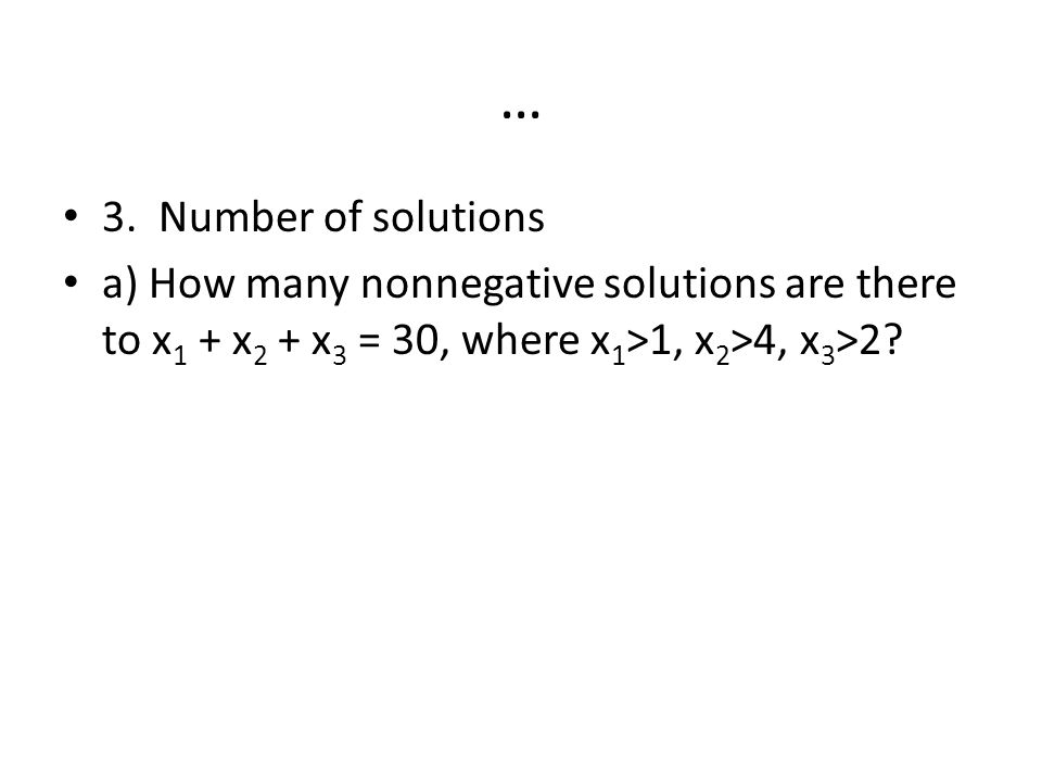 … 3. Number of solutions.