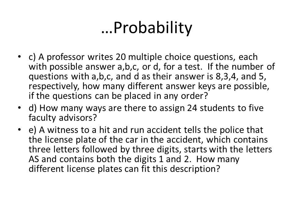 …Probability